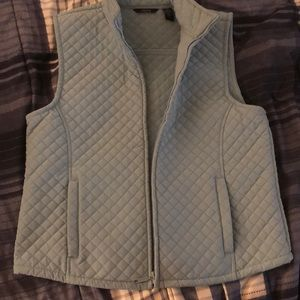 Thick fleece baby blue vest